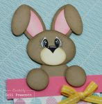 Punch art Easter bunny in crumb cake eyelashes