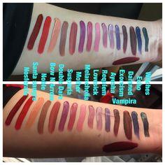 Kat Von D liquid lipstick swatches