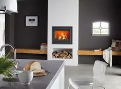 Instyle 700 EA is a 70 cm wide wood fire from the Dik Geurts range. Installed in fireplace or chimneybreast, it is available in a variety of stylish frames New Living Room, Living Room Modern, Small Living, Home And Living, Home Fireplace, Modern Fireplace, Fireplace Design, Minimalist Fireplace, House Doors