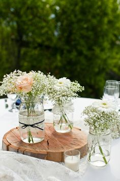 Wedding centerpieces pearls lace mason jars for 2019 Trendy Wedding, Diy Wedding, Rustic Wedding, Wedding Flowers, Dream Wedding, Wedding Simple, Wedding Ideas, Wedding Boots, Wedding Country