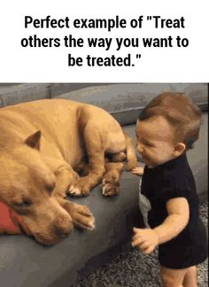 """Perfect example of """"Treat others the way you want to be treated."""""""
