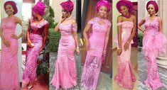 Nigerian Celebrity Wedding: SEE Glam Aso-ebi Belles & Gentlemen At Stephanie Coker & Olumide Aderinokun's Traditional Wedding In Lagos #StephMitide1617