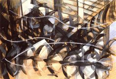 Futurismo / Balla / Flight of the swallows. Italian Painters, Italian Artist, Gouache, Futurist Painting, Giacomo Balla, Italian Futurism, Futurism Art, Modernisme, Oil Painting Reproductions