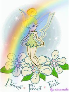 Sininho, flores arco-íris