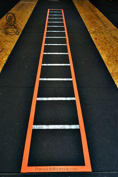 DIY Agility Ladder at Chalk Monkey Crossfit by @PamelaMKramer