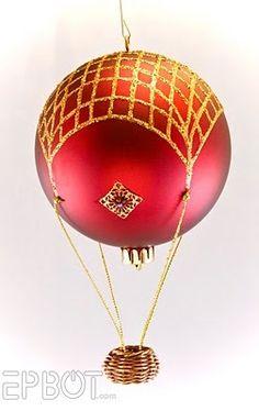 #hot air balloon #Christmas #ornament