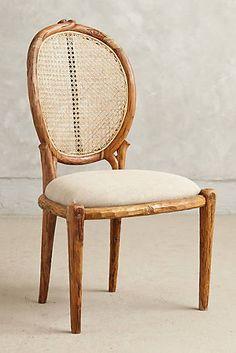 Armless Cane Back Dining Chair