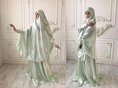 Elegant Muslim mint suit Silk wedding jilbab bridal khimarElegant Muslim mint suit, Silk wedding jilbab, bridal khimar, engagement islamic dress, nikah outfit, lace burqa Prom Dresses, Formal Dresses, Wedding Dresses, Abaya Pattern, Wedding Hijab, Mode Hijab, Muslim Women, Green Colors, Lace Trim