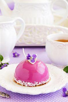 Blueberry Cake with Violet Liquer