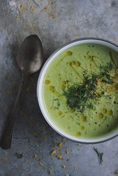 Creamy Broccoli Fennel Soup with Kale + Meyer Lemon Zest - the creaminess comes from cashews, not cream or dairy