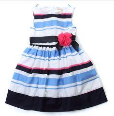 Place Blue Stripes Flower Dress - Wedding.Maternity.Women Online Shopping Mall