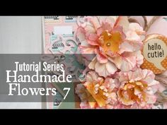 In this video I'll show you how to use a simple scoring stylus to create beautifully textured flowers. Diy Lace Ribbon Flowers, Paper Flowers Diy, Handmade Flowers, Flower Crafts, Fabric Flowers, French Flowers, All Flowers, Amazing Flowers, Pretty Flowers