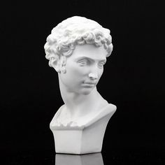 """Amazon.com - Height 6"""" 15.5cm Giuliano Medici Plaster Bust Statue Resin Casting Painting White -"""