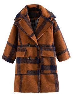 5edd8891fec7c Belted Wool Blend Plaid Coat (1.705 RUB) ❤ liked on Polyvore ...