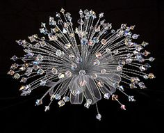 Round Swarovski Crystal Bouquet @ Brilliant Wedding Jewelry