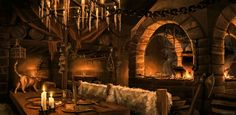 Fantasy Tavern Interior by whatyoumaydo on deviantART