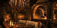 Fantasy Tavern Interior by whatyoumaydo on deviantART Fantasy landscape Tavern Fantasy setting