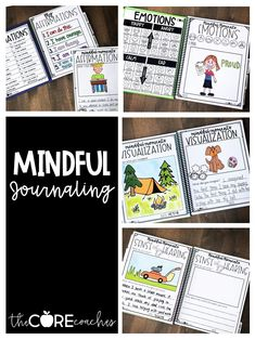 Students practice mindfulness through journaling. about emotions, affirmations, visualizing, and their 5 senses.