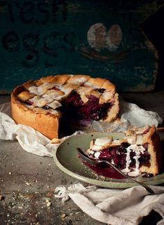 Apple, Ginger & Blueberry Shortcrust Pie