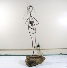 #Driftwood and Wire #Sculpture #Mother and Baby Mixed Art. ©2013 idestudiet™ ART+EARTH. All Rights Reserved