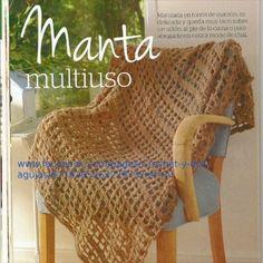 Patrón Manta Crochet.
