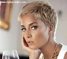 Image result for blonde pixie cut #PixieHairstylesLayered