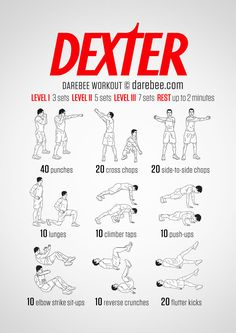 A Killer Workout / Dexter inspired no-equipment workout routine Yoga Fitness - http://amzn.to/2hmQneS