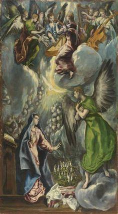 La Anunciación - El Greco- Colección - Museo Nacional del Prado
