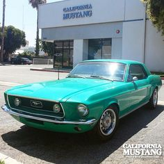 1968 Mustang GT Turquoise