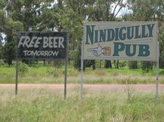 Nindigully - unique signs in #Australia #travel #signs