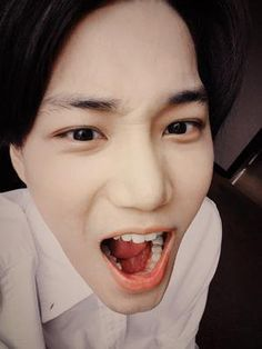 KAI'S selcas are so cute omgggg!!~ #kai #exo #exok #sehun #chanyeol #xiumin #luhan #baekhyun #cute #kawaii #suho #kris #chen #tao #do #lay