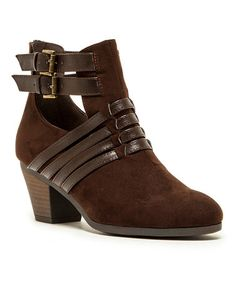 Look what I found on #zulily! Brown Rolling Bootie by Qupid #zulilyfinds