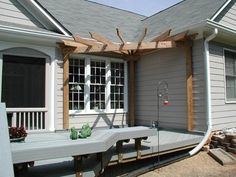 Front Porch Pergola Ideas | Corner Pergola - Pergolas & Trellises Photo Gallery - Archadeck of ...