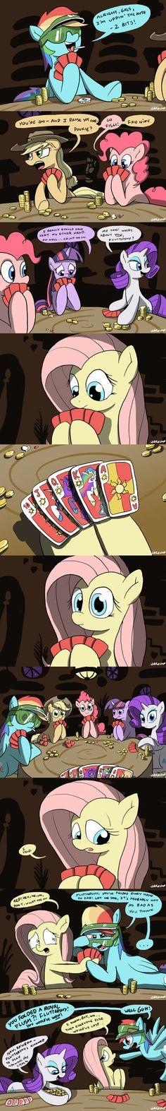 Gambling Ponies.... (I don't like that their gambling but it's still pretty funny!)