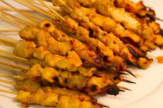 Chicken satay- I love this stuff at Thai restaurants so it's worth trying to make it myself.
