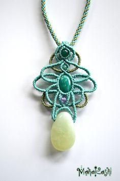 Collar de Macramè Alma de bohemio con por MahakashiCreations