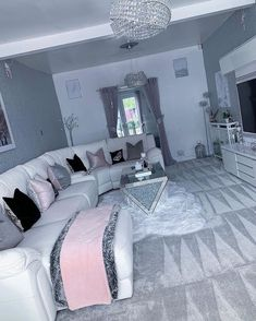 Cute Living Room, Decor Home Living Room, Living Room Grey, Living Room Designs, First Apartment Decorating, Dream House Interior, Room Ideas Bedroom, Luxurious Bedrooms, House Rooms