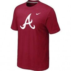 Wholesale Men Atlanta Braves Heathered Blended Short Sleeve Red T-Shirt_Atlanta Braves T-Shirt