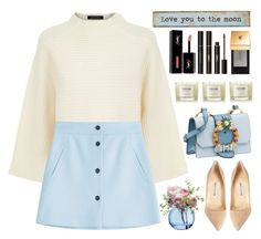 """""""Love you to the moon"""" by itsybitsy62 ❤ liked on Polyvore featuring Jaeger, Paul & Joe, Natural Life, LSA International, Manolo Blahnik, Miu Miu, NEOM Organics and Yves Saint Laurent"""