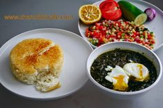 Welcome to Shamshiri cafe: Torshe tareh; North Iranian egg, sour orange and herb stew