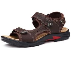 2014 New Brand Genuine Leather Men Sandals Outdoor Casual Men's Summer Shoes Soft Comfortable Sole Plus Size 38-48 - Brought to you by Avarsha.com