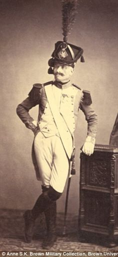 Monsieur Vitry of the Departmental Guard fought in the Napoleonic Wars between 1803-1815, pictured in 1850