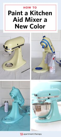 """If you've ever thought, """"what was I thinking when I picked out that color?"""" while staring at your kitchen mixer, this DIY might just be for you. For around $10 you can repaint to freshen up or completely change the look of your mixer —a pretty sweet alternative to shelling out a few hundred bucks for a new machine!"""