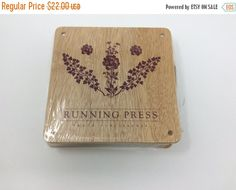 HOLIDAY FLASH SALE: Flower Pressing Kit by Running Press - Wood and cardboard by CellarDeals on Etsy