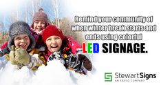 Let your students and parents know about important dates and the upcoming winter break using your school sign. Monument Signs, School Signs, Led Signs, Important Dates, Signage, Parents, Students, Messages, Lettering