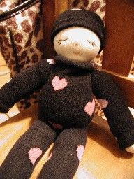 Make A Sock Rag Doll For Baby's First Doll