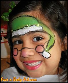 Shawna D. Make-up: Christmas boy or girl Elf face paint