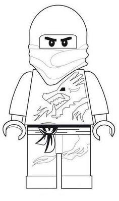 Coloriage et dessin de Ninjago à imprimer - Coloriage Ninjago Kai ninja rouge