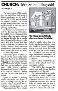 Iglesia Ni Cristo purchased Greek Orthodox Church Properties in Washington D.C.: