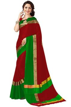 joshindia red and green color designer silk printed Party Wear saree with blouse Indian Designer Sarees, Indian Sarees Online, Latest Designer Sarees, Party Wear Sarees Online, Party Sarees, Tussar Silk Saree, Art Silk Sarees, New Fashion Saree, Fashion Dresses